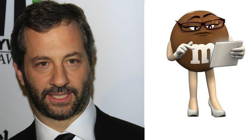 Illustration for article titled Judd Apatow Could Be The Best M&Ms Spokesperson Ever (Sorry, 'Sexy' Anthropomorphic Brown One)