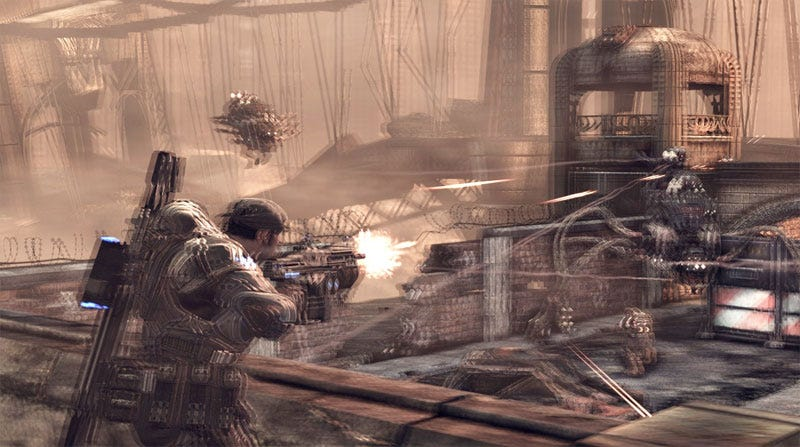 Illustration for article titled Playing Gears Of War 2 At CES... In 3D!!!