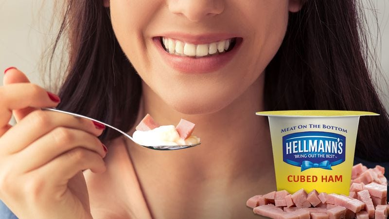 Illustration for article titled Hellmann's Introduces New Meat-On-The-Bottom Mayo Cups