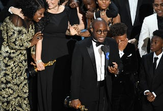 Barry Jenkins speaks onstage at Oscars Feb. 26, 2017. (Kevin Winter/Getty Images)