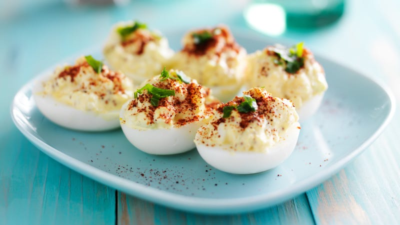 "Illustration for article titled The Duggars renamed deviled eggs ""yellow pocket angel eggs"""