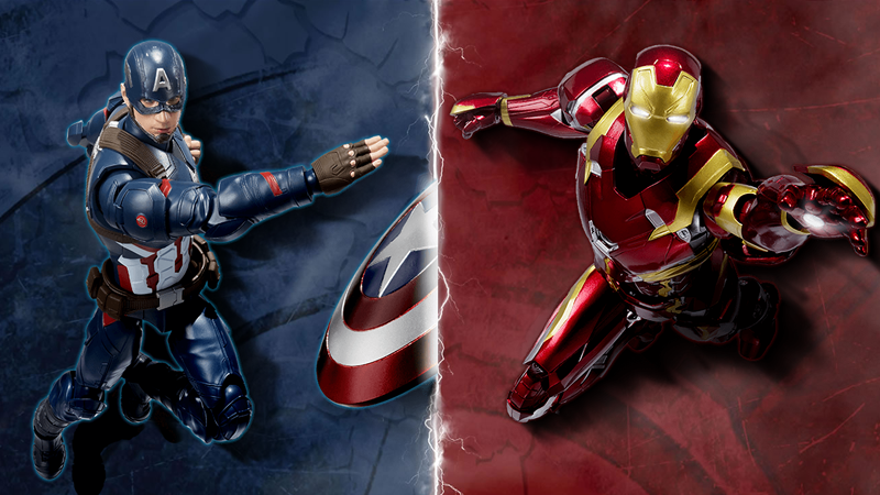Illustration for article titled Captain America: Civil War Figuarts Will Fight For the Right to Empty Your Wallet