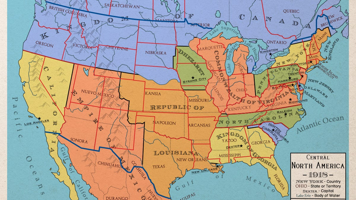 State Map Of North America.Maps Of An Alternate North America That Never Became The United States