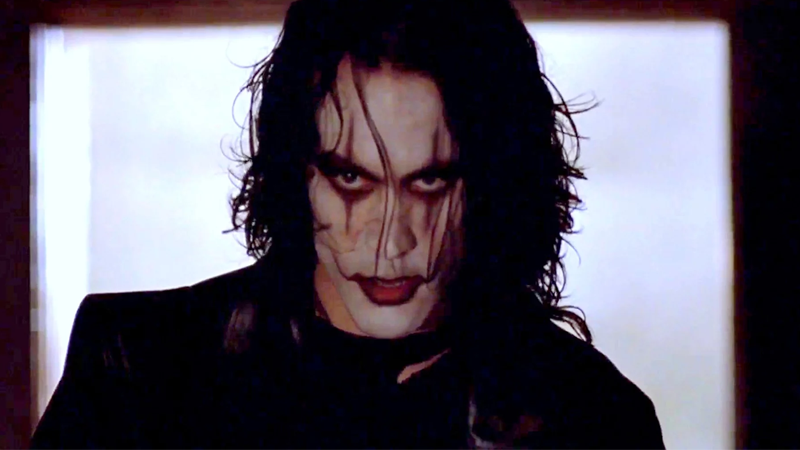 Brandon Lee as Eric Draven in the original Crow adaptation.