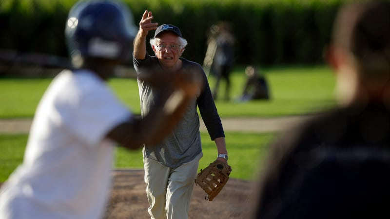 I Could Watch Bernie Sanders Play Competent Softball on a Loop Until I Die