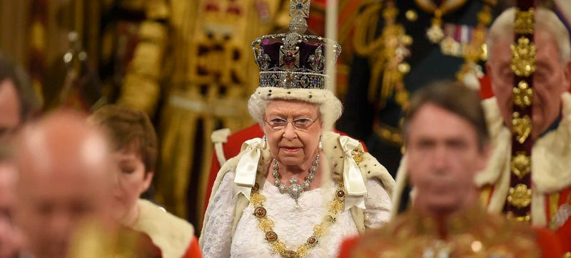 The Queen enters the House of Lords ahead of her speech (Image: AP)
