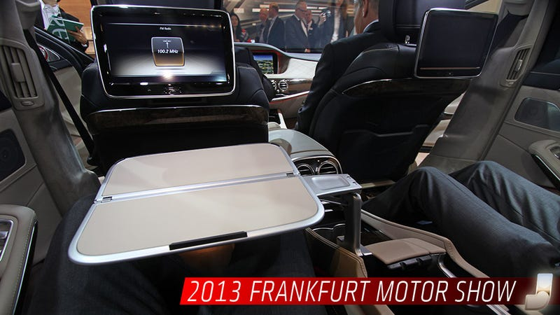 The Mercedes S Class Has The Best Fold Out Table Ever