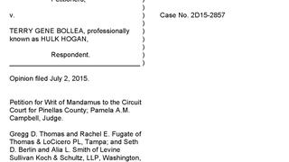 2D15-2857/ Gawker Media, LLC v. Bollea