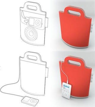 Illustration for article titled Boom Bag Portable Speaker Prototype