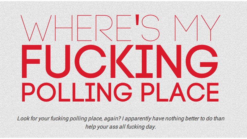 Illustration for article titled Where Is Your Freaking Polling Place? How to Find It, Fast
