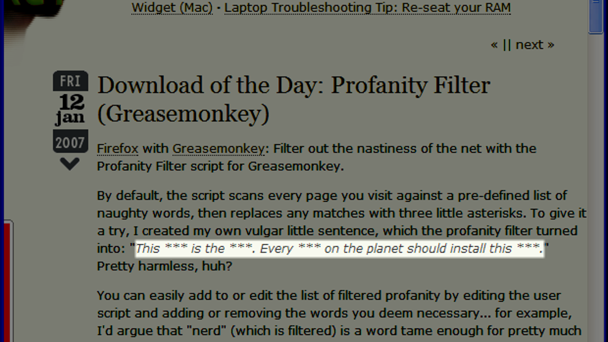Top 10 Greasemonkey User Scripts