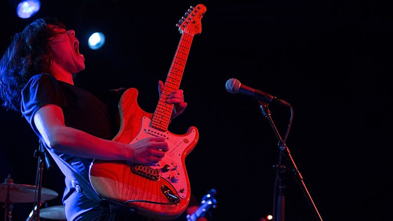 Screaming Females guitarist Marissa Paternoster in action. (Photo:Rick Kern /Getty Images)