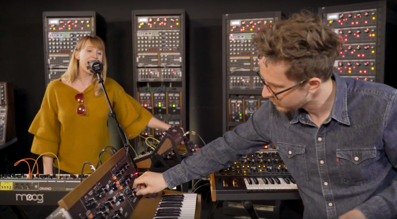 """Illustration for article titled Watch Wye Oak rework """"It Was Not Natural"""" in a room full of Moogs"""