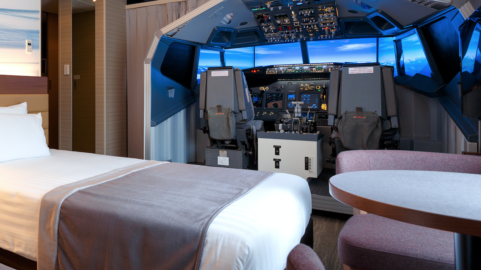 Enormous Flight Simulator Installed In Tokyo Hotel
