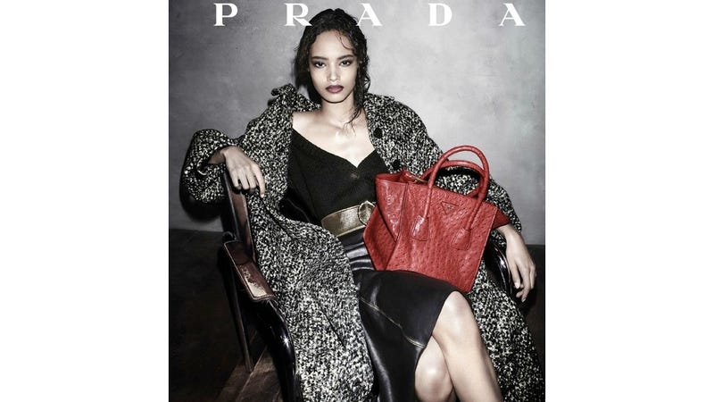 Illustration for article titled Prada Cast a Black Campaign Model for the First Time in 19 Years