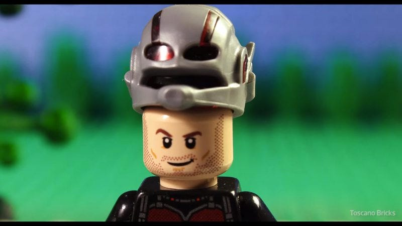 Illustration for article titled Ant-Man trailer gets the Lego treatment