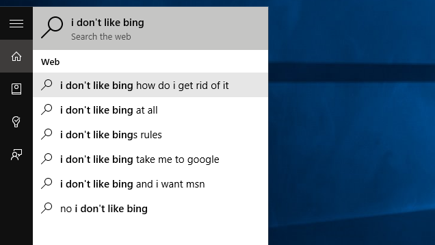 how to change from google to bing