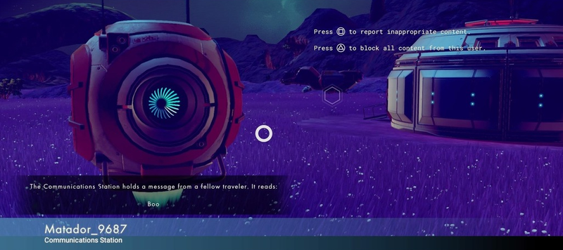 Illustration for article titled No Man's Sky Fans Are Starting To Find Messages Left By Other Players