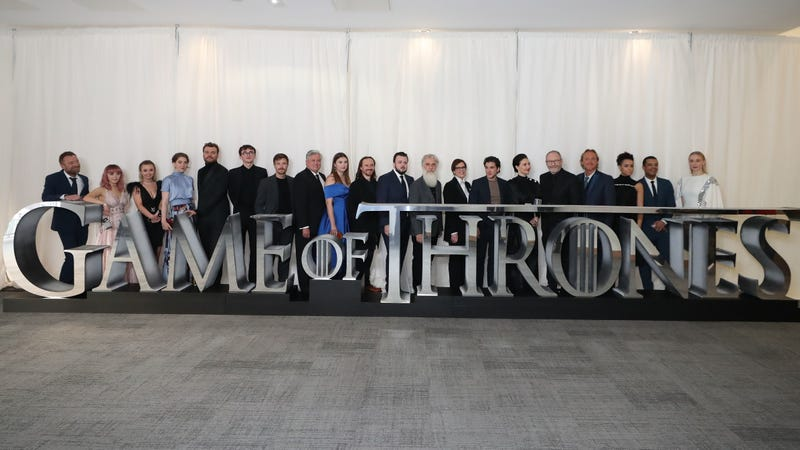 The Game of Thrones cast at a season 8 screening.