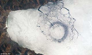 Illustration for article titled The Mysterious Ice Circles of Siberia