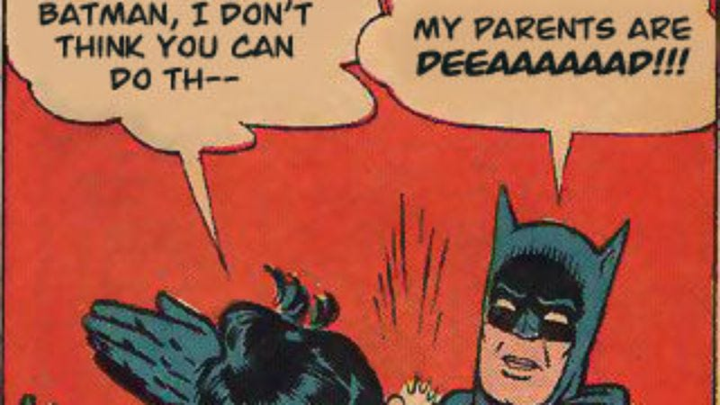 Illustration for article titled Have a supercut of Batman's parents getting gunned down, again and again