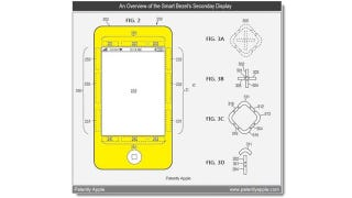Illustration for article titled Apple Patent Hints at iPhones With Smart Bezels For Visual Cues