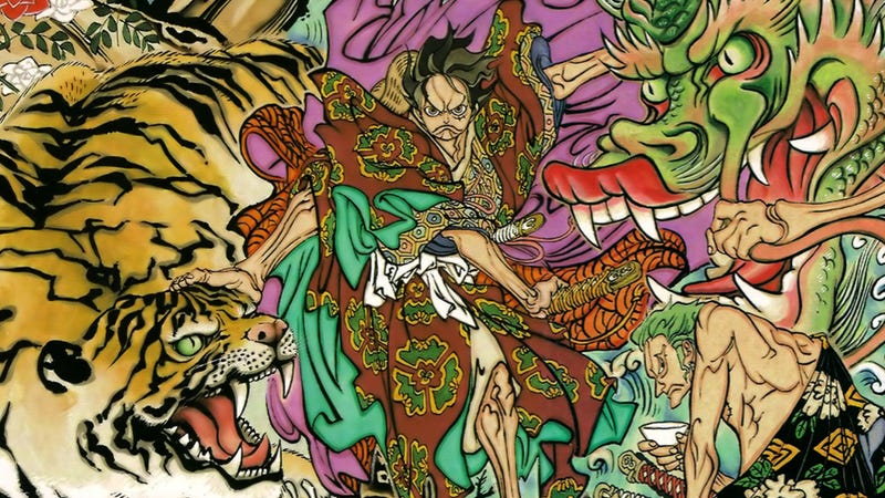 Illustration for article titled Did One Piece's Creator Rip Off This Japanese Art? Or Is It an Homage?