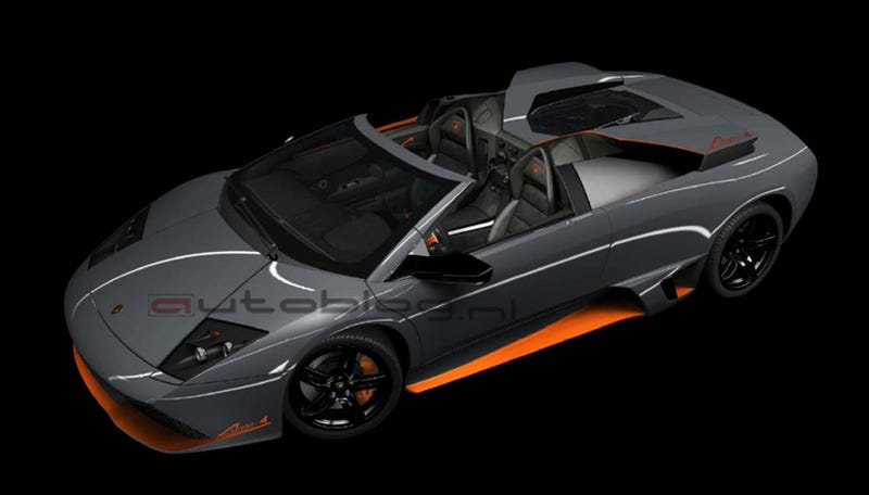 Illustration for article titled Lamborghini Murciélago LP650-4 Roadster Image, Details Leaked