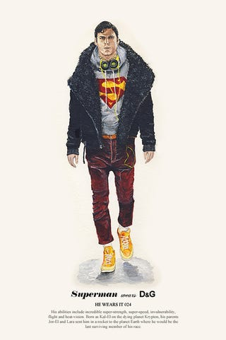 Illustration for article titled Introducing Superman, Man of Fashion