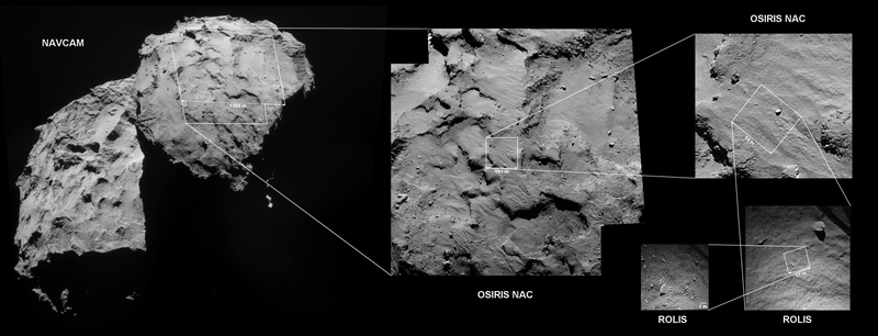 Illustration for article titled Here's exactly where Philae is on the comet right now