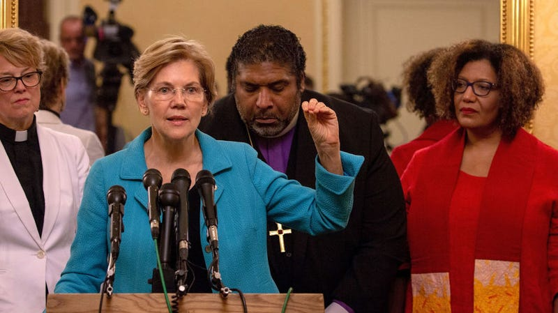 Senator Warren telling everyone to shut up while Ballers is on.