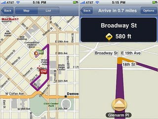 Illustration for article titled MapQuest Stumbles Back Into the App Store With Budget Turn-by-Turn