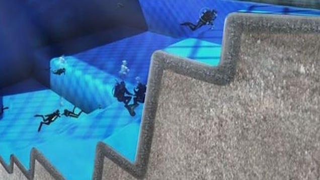 La piscina m s profunda del mundo 50 metros al servicio for Piscina mas profunda del mundo