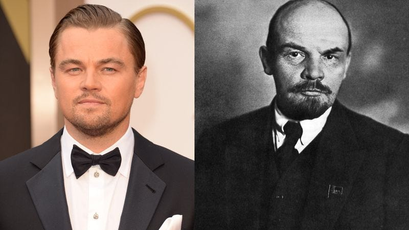 Leonardo DiCaprio and Vladimir Lenin (Photos: Getty Images; Wiki Commons)