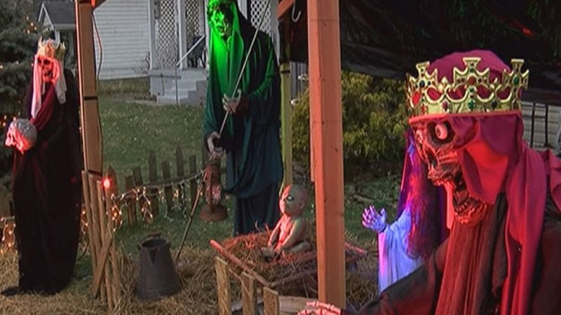 Illustration for article titled Zombie Nativity Scene Gets Censored in Cincinnati