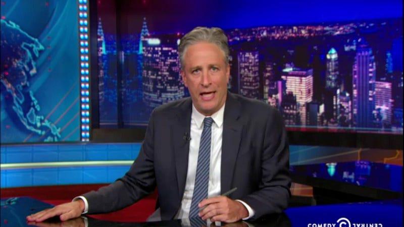 "Illustration for article titled Jon Stewart condemns Charleston church massacre as ""a terrorist attack"""