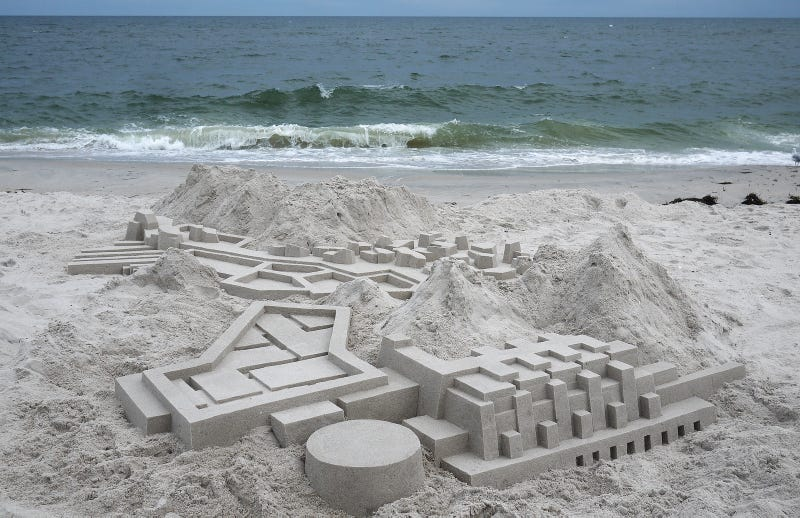 Illustration for article titled These Modernist Sand Castles Are Cooler Than Any Architectural Model