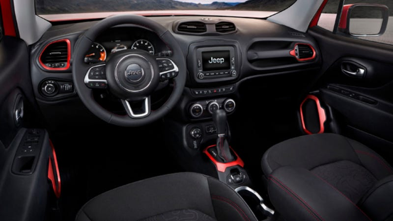 Illustration for article titled The 2015 Jeep Renegade Interior Looks Like A European Tuner Car