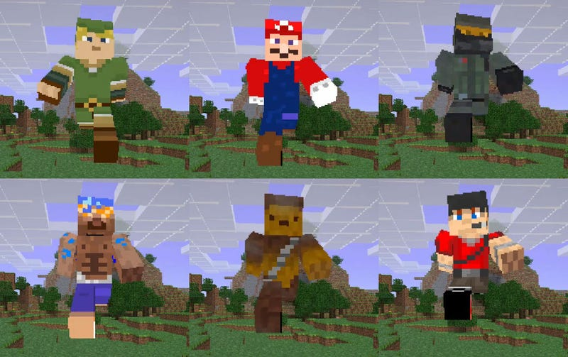 Illustration for article titled 2200 Minecraft Skins In Four Minutes