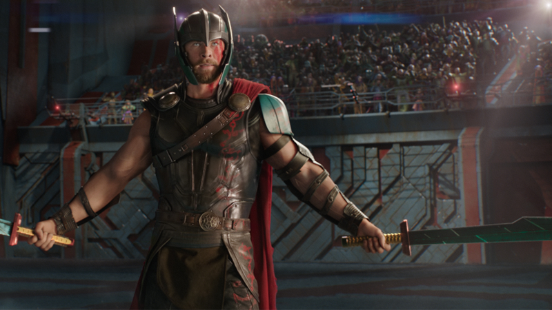 Chris Hemsworth as Thor Odinson in Thor: Ragnarok.