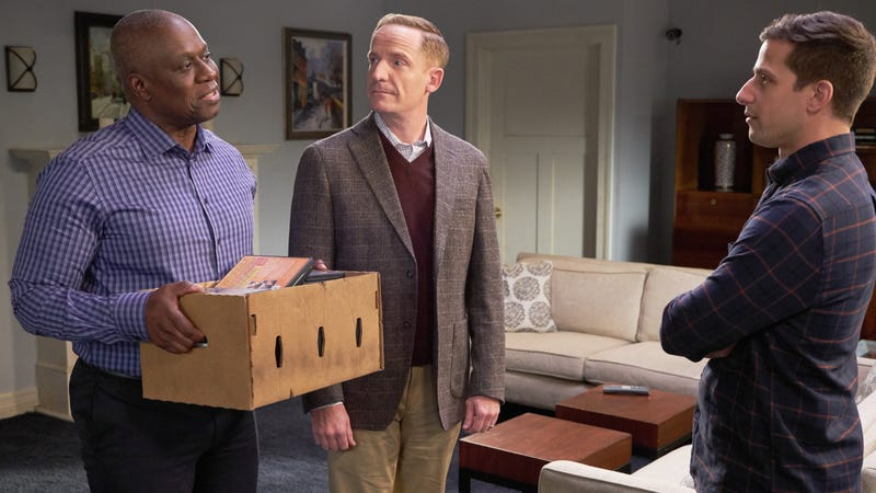 Andre Braugher, Marc Evan Jackson, and Andy Samberg