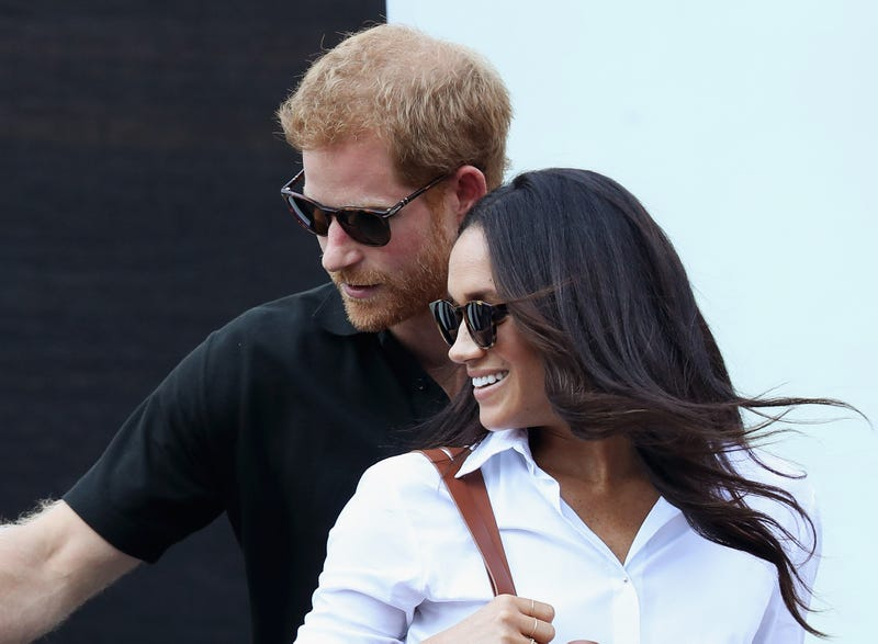 Prince Harry and Meghan Markle attend a wheelchair-tennis match during the Invictus Games 2017 at Nathan Philips Square in Toronto on Sept. 25, 2017. (Chris Jackson/Getty Images for the Invictus Games Foundation)