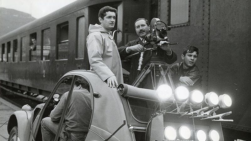 Rabier (with camera) on the set of Umbrellas Of Cherbourg