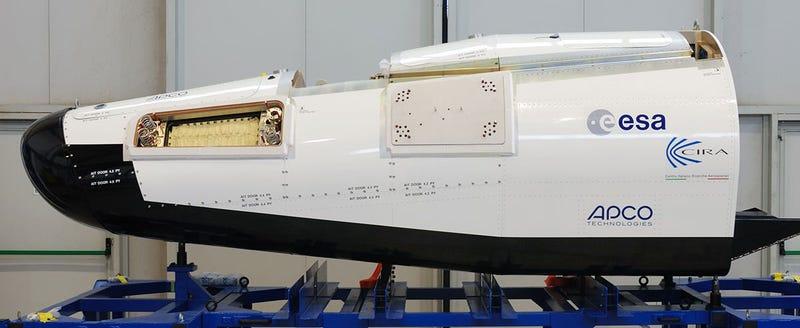 Illustration for article titled La ESA ya tiene su propia cápsula de reentrada en la atmósfera