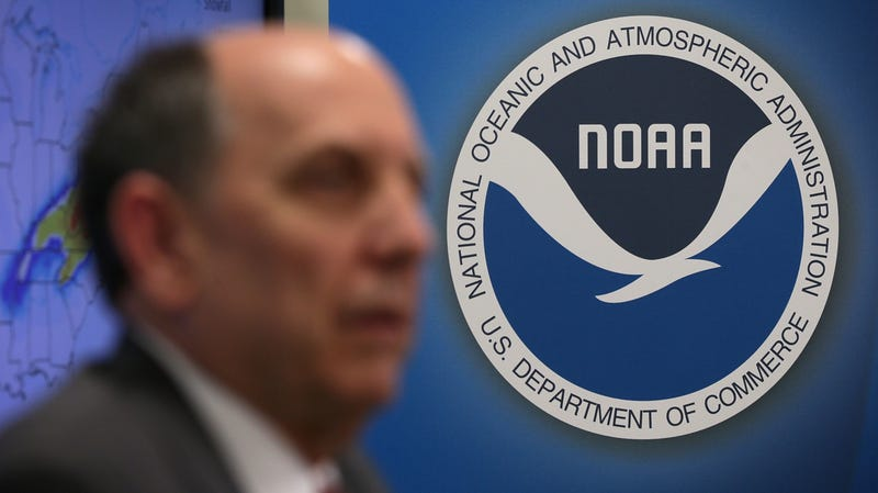 National Weather Service Director Louis Uccellini speaks at a news conference at the NOAA Center for Weather and Climate Prediction in January 2016.