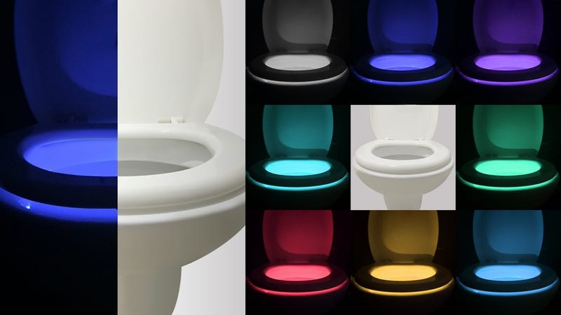 Motion Activated Toilet Night Light, $8 with code V4H6MPFG