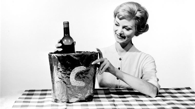 1955: Why not outline your initial on the outside of your decorative bucket with glue, and cover with sequins or confetti? Your Thanksgiving bucket will be given an extra sparkle. (Photo: Three Lions/Getty Images)