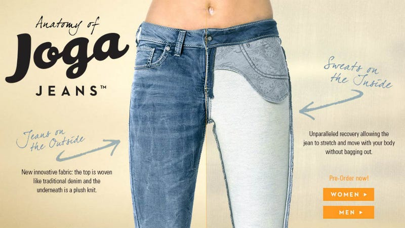 Illustration for article titled When Jeans Meet Yoga Pants, an Awful New Product Takes Shape