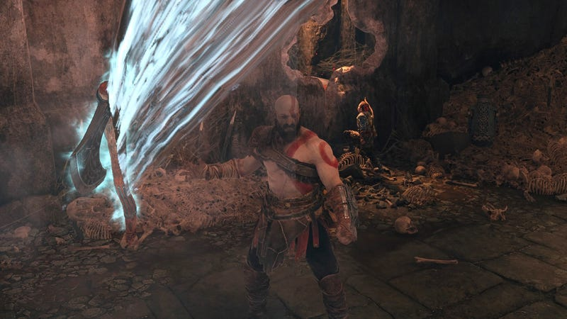 God of War, as seen via the game's post-release photo mode