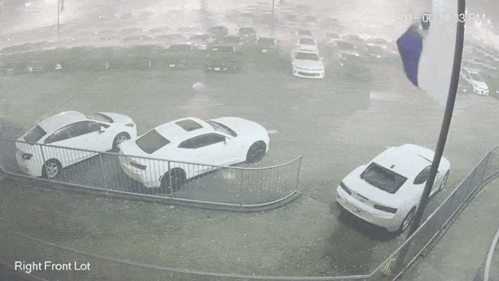 watch baseball sized hail pound the crap out of a bunch of new chevys. Black Bedroom Furniture Sets. Home Design Ideas